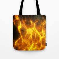 Watery Flames Tote Bag