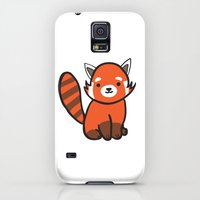 Galaxy S5 Cases featuring Red Panda by Chloe Meister