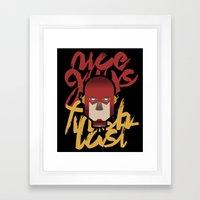 The flash is dead Framed Art Print