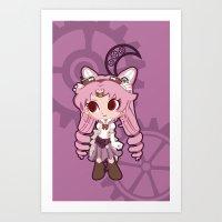 Steampunk Chibimoon - Sa… Art Print