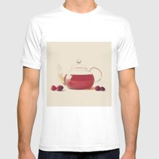 Raspberry Tea (Retro and Vintage Still Life Photography) Mens Fitted Tee SMALL White