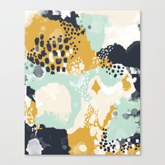 Tinsley - Abstract painting in bold, modern, bright colors Canvas Print