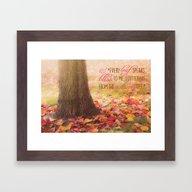 Autumn Leaves Poem Framed Art Print