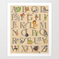 ABC Animals Art Print
