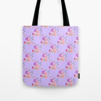 Butterflies Flowers Tiny Hearts Tote Bag