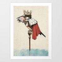 King Fisher Art Print