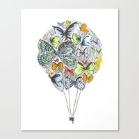 Bows & Butterflies Canvas Print