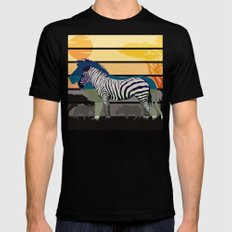 Sunset in Savanna Mens Fitted Tee Black SMALL