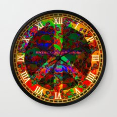 PEACE SKULLS Wall Clock