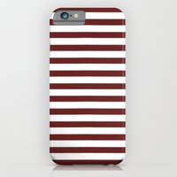 iPhone Cases featuring Marsala Stripes by Elena Indolfi