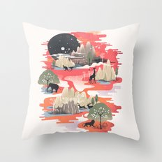 Landscape of Dreams Throw Pillow