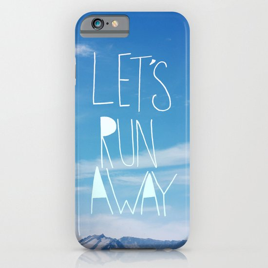 Let's Run Away: Mount Rainier iPhone & iPod Case