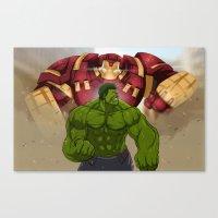 Hulk vs. Hulkbuster Canvas Print