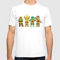 TMNT Happy-Happy Mens Fitted Tee White SMALL