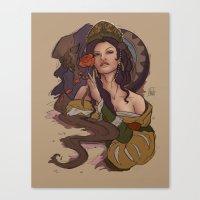Beauty And The Beast Fla… Canvas Print