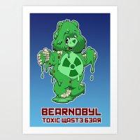 Bearnobyl Art Print