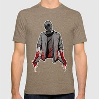 The Messenger Mens Fitted Tee Tri-Coffee SMALL