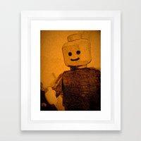 Old Lego Framed Art Print