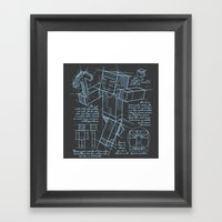 Plan Mine Framed Art Print