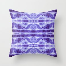 Tie Dye Twos Violet Hues Throw Pillow