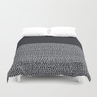 Riverside (Black) Duvet Cover