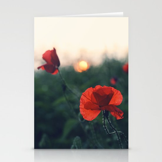 Poppy Stationery Card