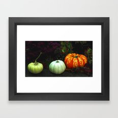 The magical pumpkins Framed Art Print