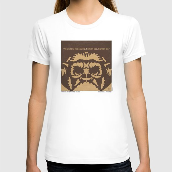 No270 My PLANET OF THE APES minimal movie poster T-shirt