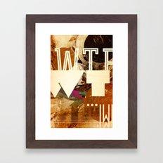 WTF Framed Art Print