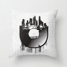 Urban Vinyl Throw Pillow