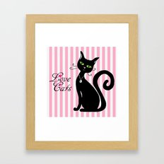 Love Cats Framed Art Print