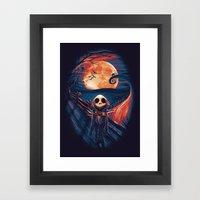 The Scream After Christm… Framed Art Print