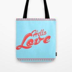 Hello, love | Typography Tote Bag