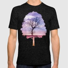 ATMOSPHERIC TREE | Early… Mens Fitted Tee Tri-Black SMALL
