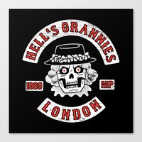 Hell's Grannies 1969 Canvas Print