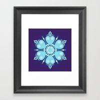 Heartflake Framed Art Print