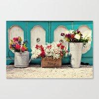 Vintage + Flowers  Canvas Print