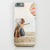 iPhone & iPod Case featuring trip to the moon, collage by swinx