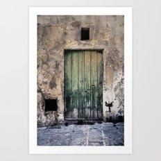 Green Door III Art Print