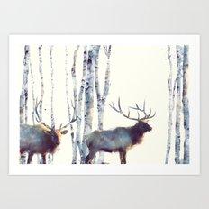 Elk // Follow Art Print