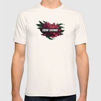 sauvage Mens Fitted Tee Natural SMALL