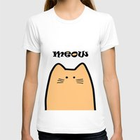 Meow part 2 Womens Fitted Tee White SMALL