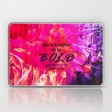 CALLED TO BE BOLD Floral Abstract Christian Typography Scripture Jesus God Hot Pink Purple Fuchsia Laptop & iPad Skin