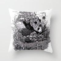 Land Of The Sleeping Gia… Throw Pillow