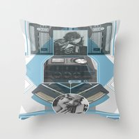 Old School Elec - Phone Throw Pillow