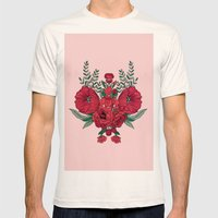 Wild roses Mens Fitted Tee Natural SMALL