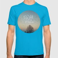 WildandFree Mens Fitted Tee Teal SMALL