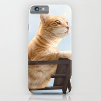 iPhone & iPod Case featuring  My Neighbour's Cat by Lily Art