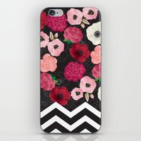 Chevron Flowers iPhone & iPod Skin