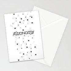 Astronomy Ambigram Stationery Cards
